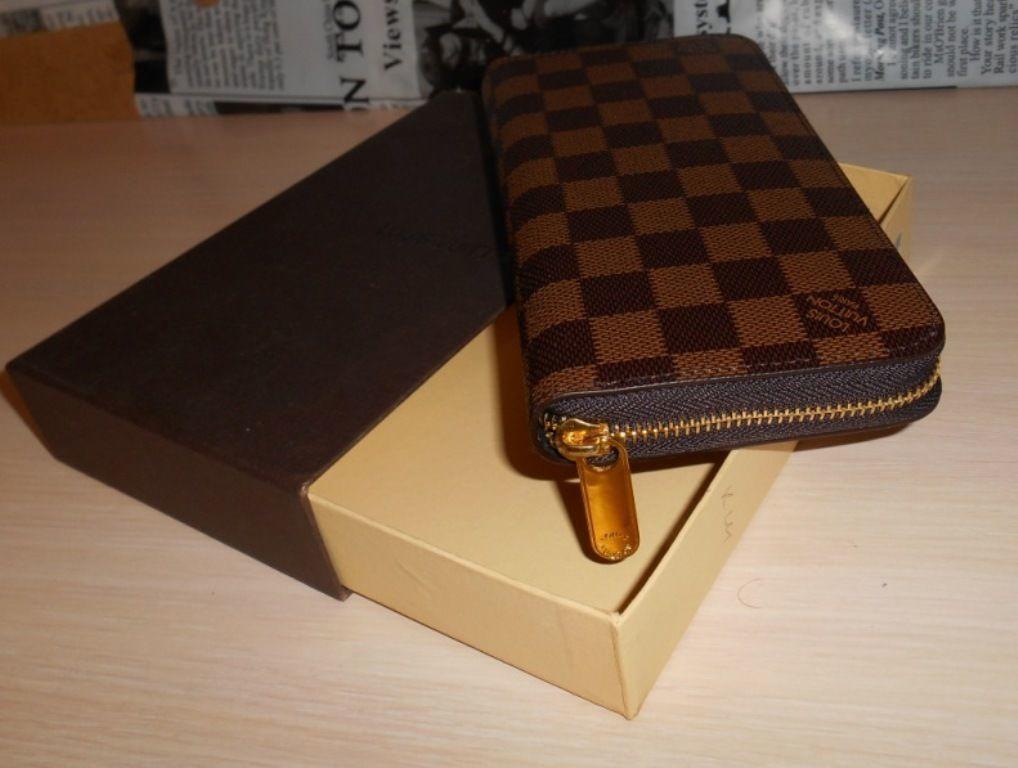 Кошелек клатч, портмоне LV, Louis Vuitton, кожа, Франция Луи Виттон ... fce9907d498