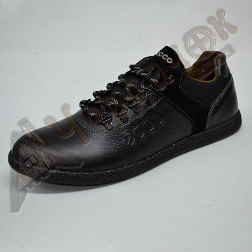 f081e4bb Купить сейчас - Кроссовки мужские кожаные с нубуком ECCO (черные ...
