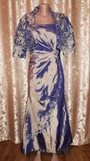Новое!красивое вечернее, выпускное платье со шлейфом и накидкой peridr