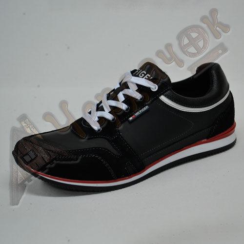 Кроссовки Tommy Hilfiger мужские кожаные с нубуком (черные)  980 грн ... 0ca0e096247aa