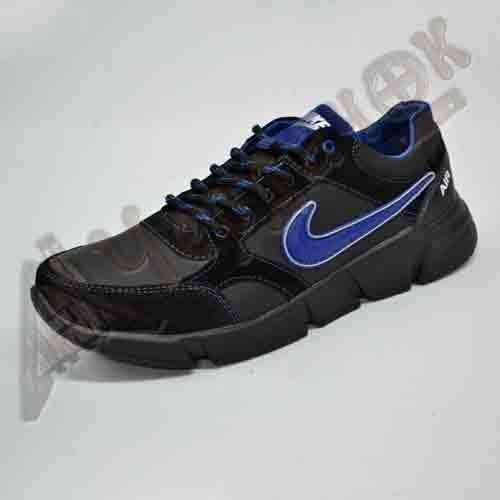 f0914b984046 Кроссовки мужские Nike кожа нубук (черные с синим)  980 грн ...
