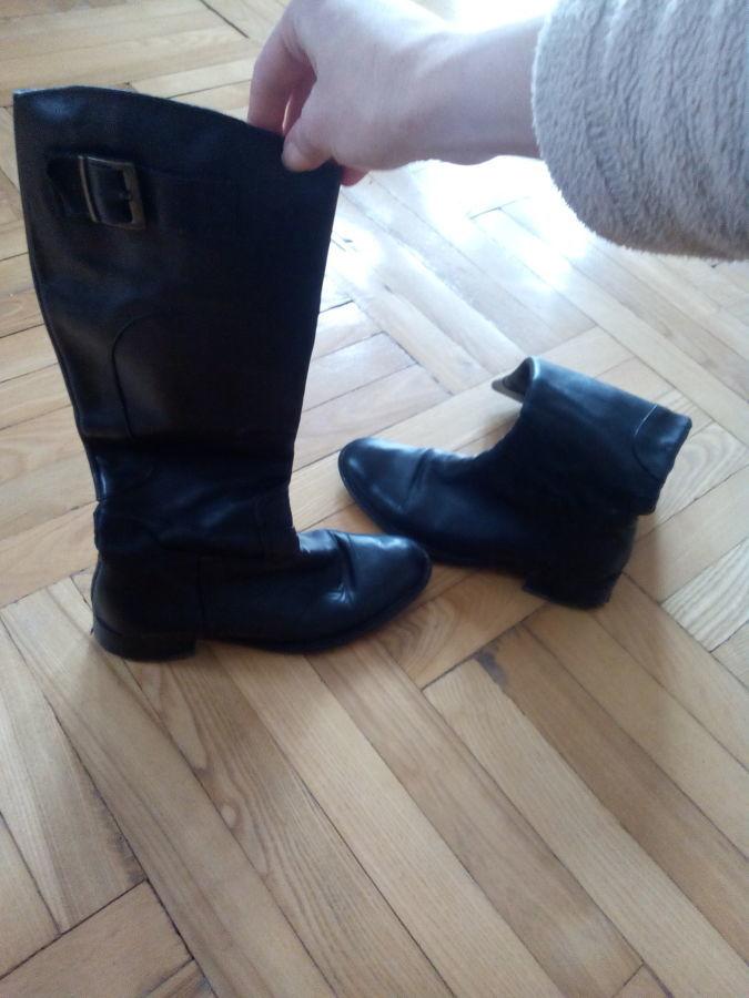 Продам шкіряні жіночі чоботи