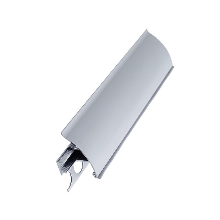 Плинтус алюминиевый выпуклый со скрытым креплением (35*17*3000мм)