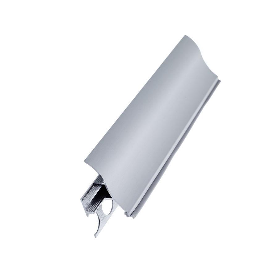 Плинтус алюминиевый вогнутый со скрытым креплением (35*17*3000мм)