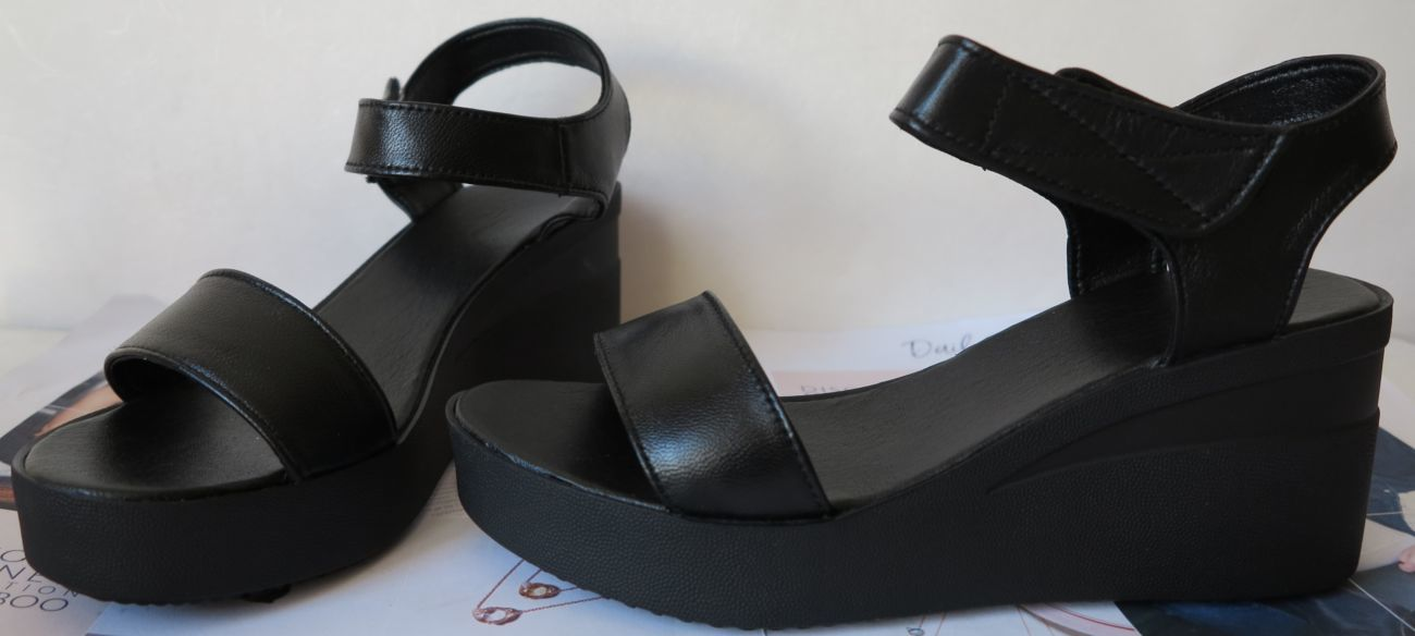 Босоножки Kelton! женские черные сандалии кожа платформа dior танкетка b934f4b4eed7a