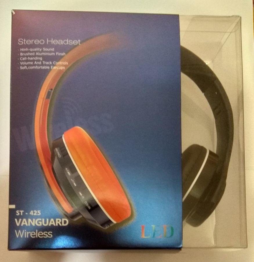 Беспроводные Bluetooth блютуз наушники с подсветкой, МП3 Плеер, радио