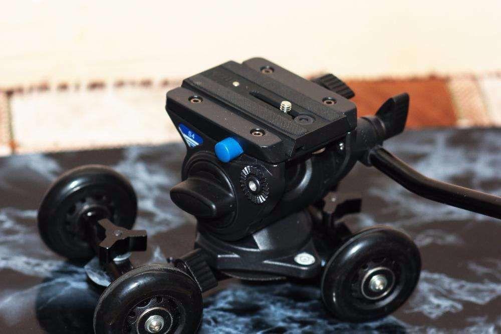 Скейтер Видео + Шаровая головка, тележка Dolly для Canon Nikon