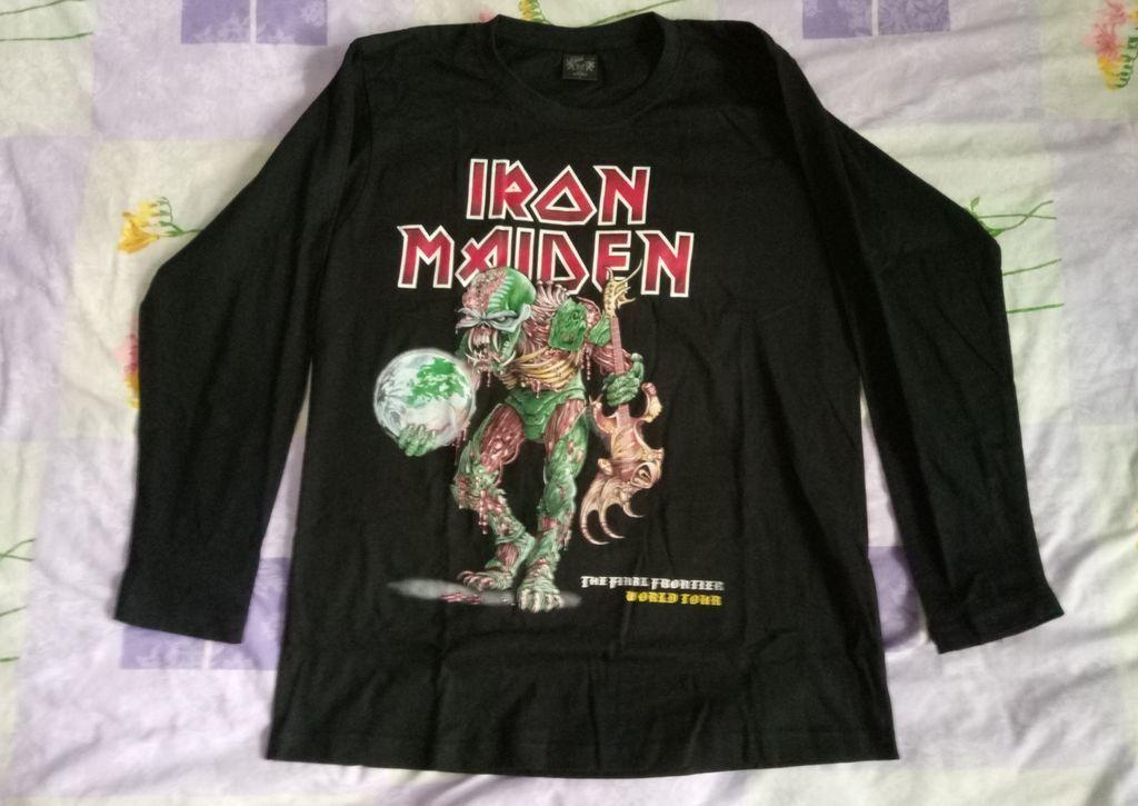 Новая футболка Iron Maiden, размер - L, наш, длинный рукав