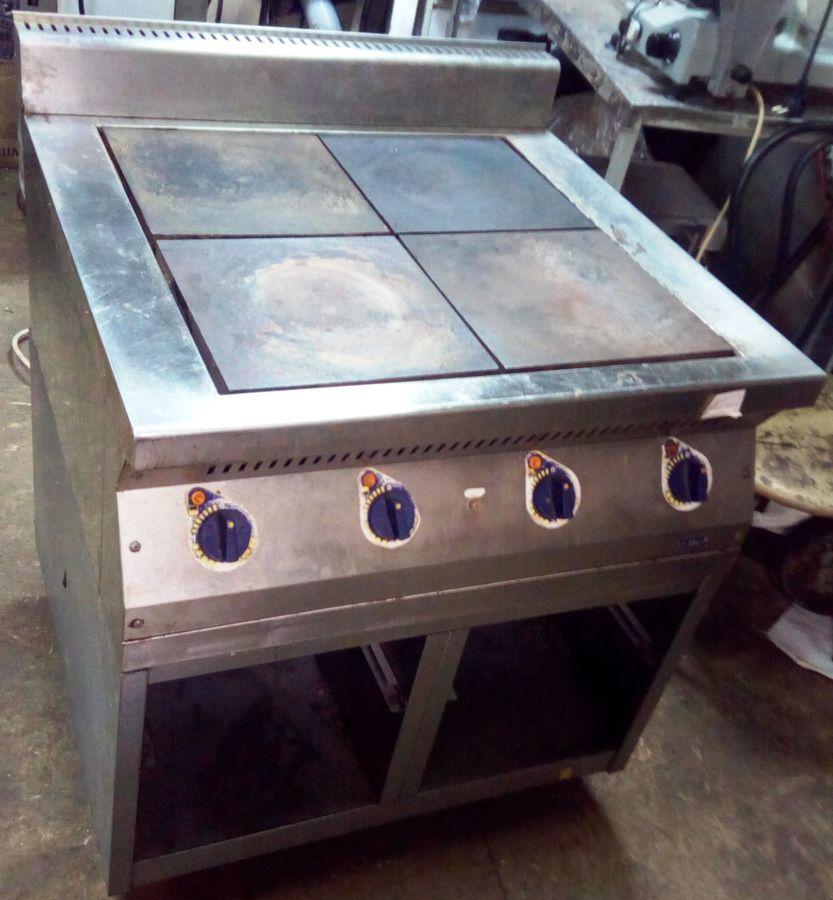 Плита електрическая 4 конфорки б/у для кафе