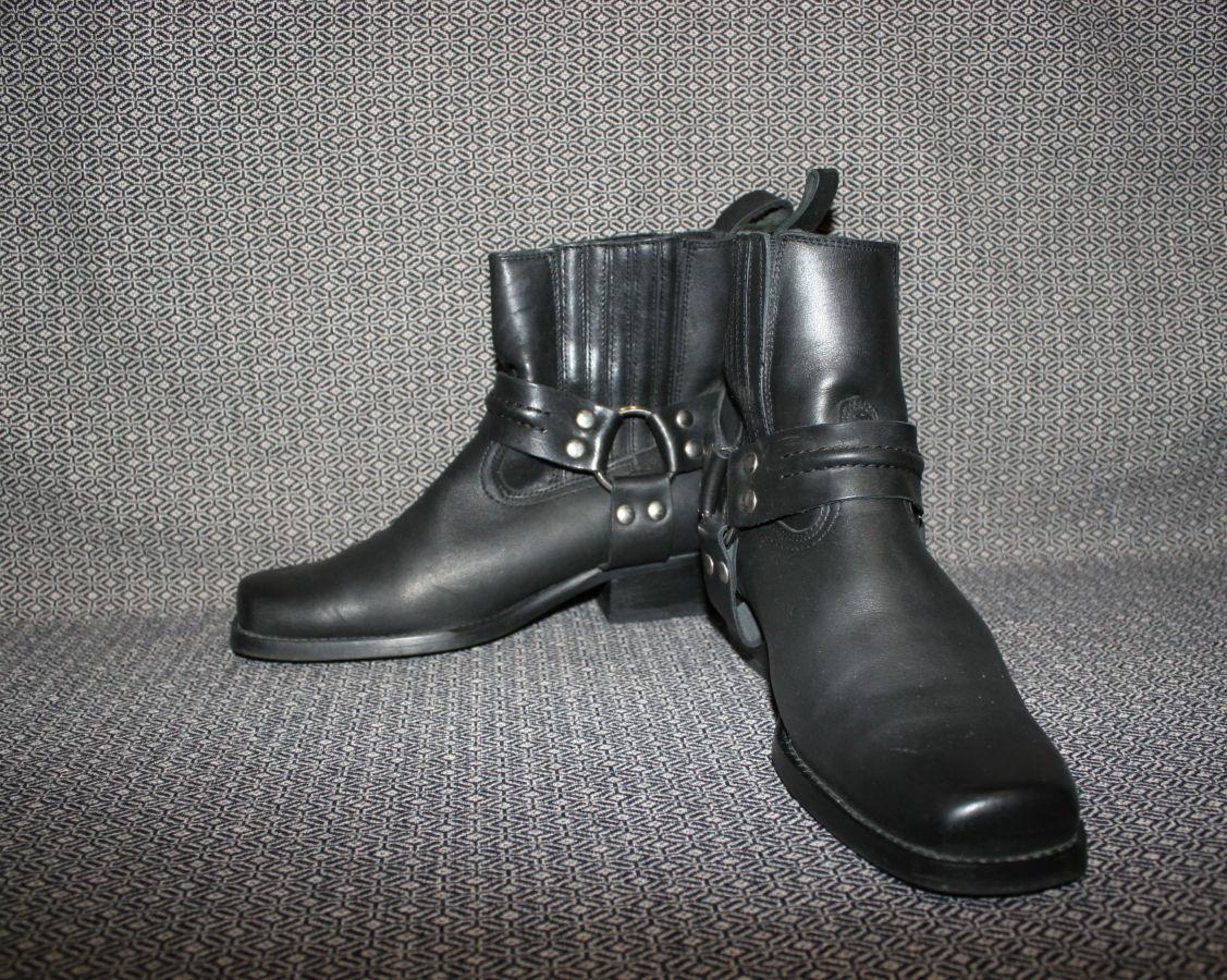 Мотоботинки кожаные чопперы,байкерские,Joe Sanchez,Spain,39 р 25
