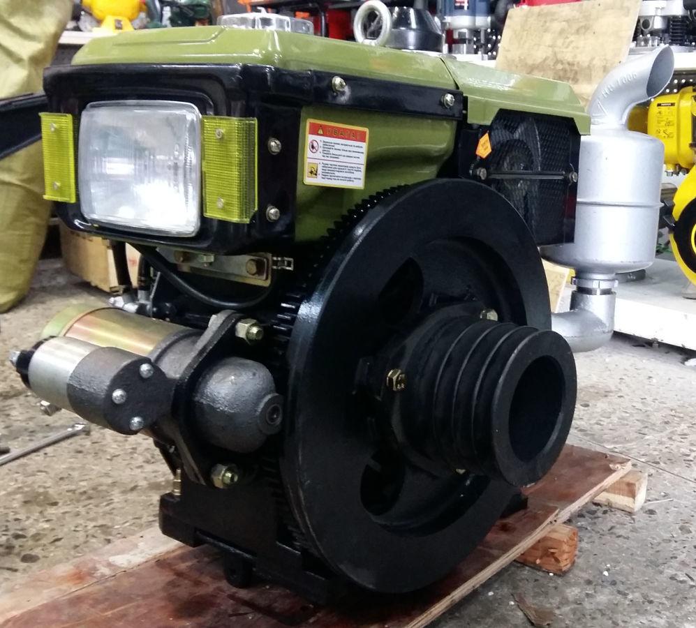 Дизельный двигатель на мотоблок 10 л.с. Зубр R190NL