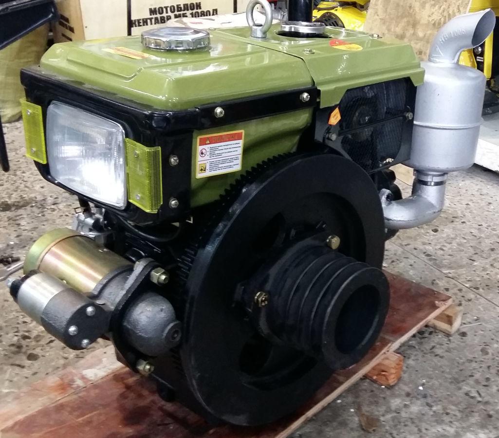 Дизельный двигатель 12 л.с. Зубр SH195NDL+Электростартер
