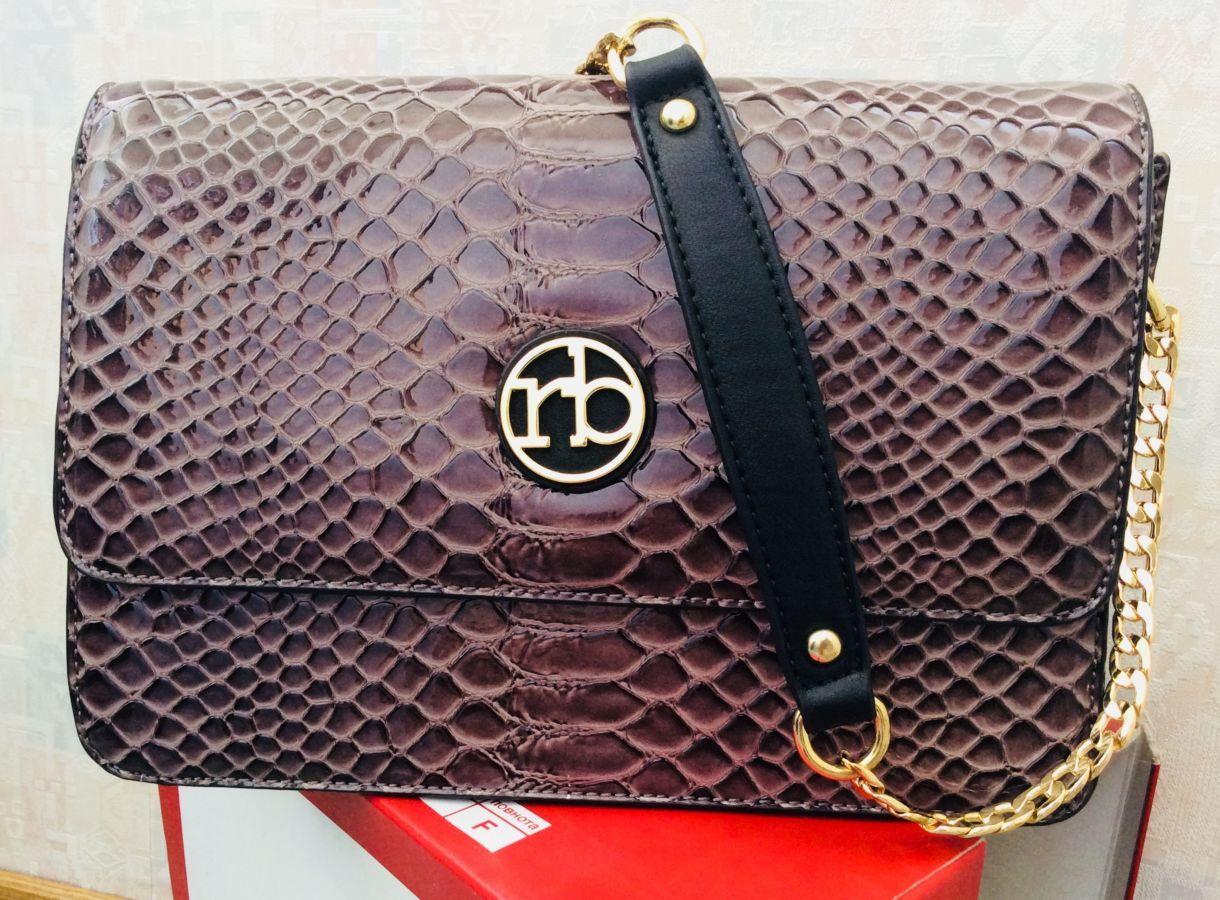 d75140c3 Шикарная итальянская лаковая сумка Roccobarocco! Оригинал!: 1 500 ...