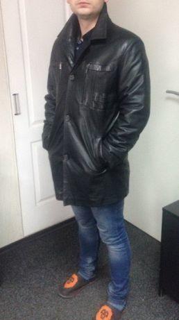 0a3f16a78ce Купить сейчас - Кожаная куртка мужская Турция размер 50-52 чёрная ...