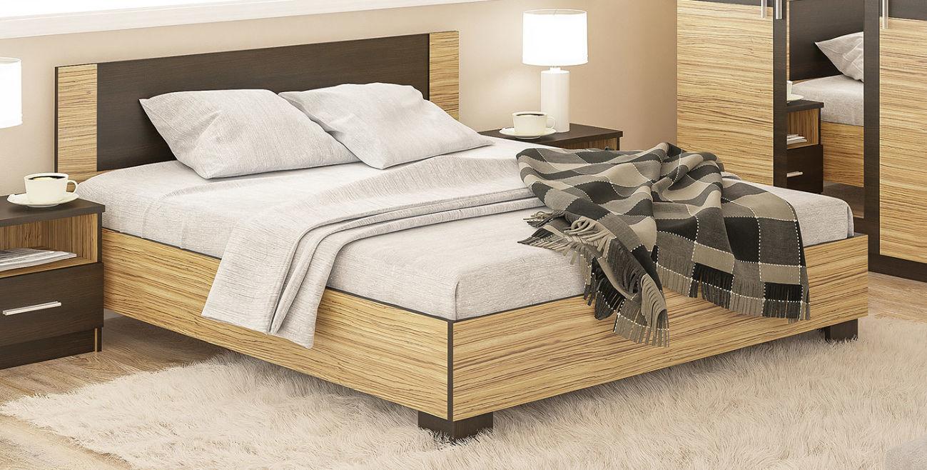 двуспальная кровать вероника зебрано мебель со склада недорого 1