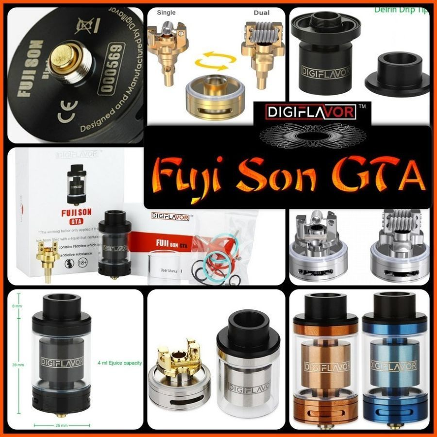 Fuji son GTA обслуживаемый атомайзер. Оригинал от компании Digiflavor.
