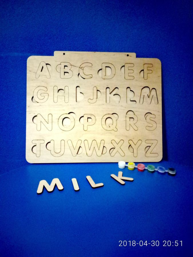 Буквы пазлы, азбука, английский алфавит, сортер, подарок ребенку