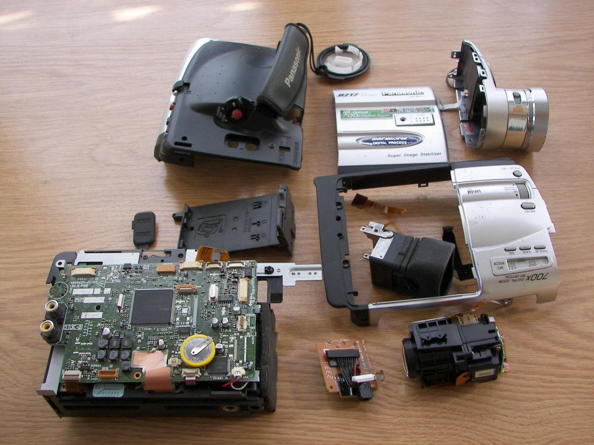 Видеокамера Panasonic NV-RZ17 на запчасти.