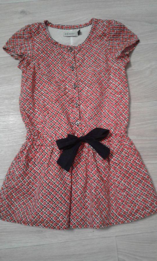 Летнее платье jean bourget 4-5 лет 110р.