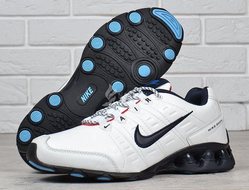 1da2cd26 Кроссовки мужские кожаные Nike Air Shox running белые: 889 грн ...