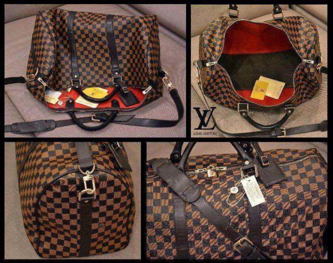 e9b43e640bb9 Саквояж дорожная сумка Louis Vuitton Луи Витон большая