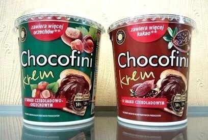 Шоколадная паста 400 грамм Чокофини Chocofini Nutella из Европы Польша