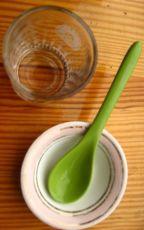 ложка чайная керамическая салатовая, стопка стекло