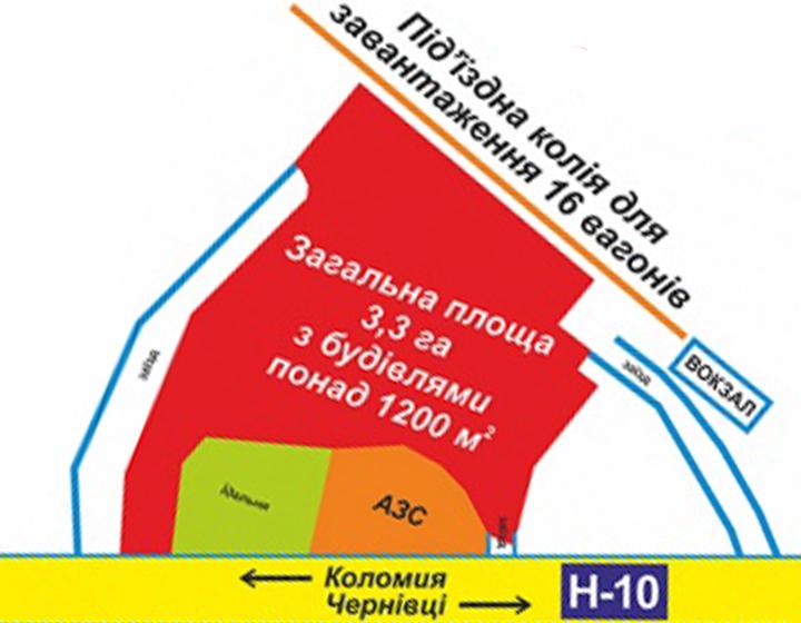 Продаж землі промислового призначення (3.3 га)