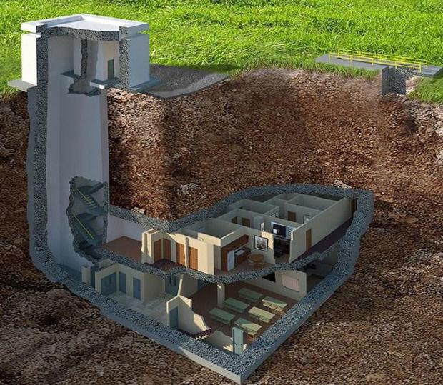 план дома под землей