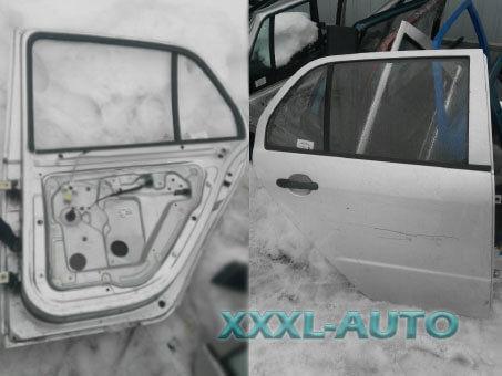 Двері задні праві седан хетчбек Skoda Fabia 1999-2007 6Y6833052