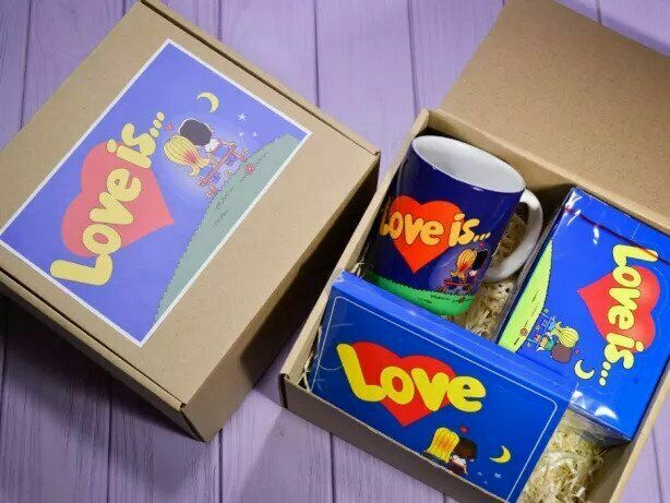 Love Is... подарочный набор жвачки чашка шоколад лав ис
