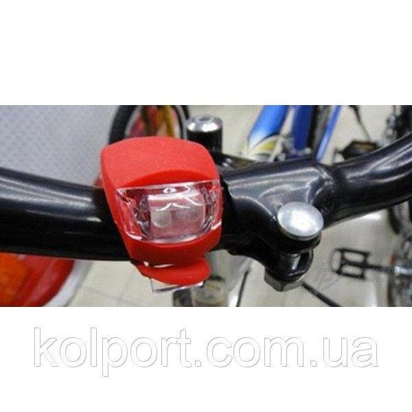 Велофонарь велосипедный фонарь 2LED белый+красный 2 шт HJ008
