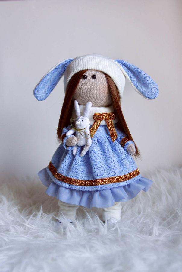 Продам текстильную куклу ручной работы, рост 30 см, 1000 грн
