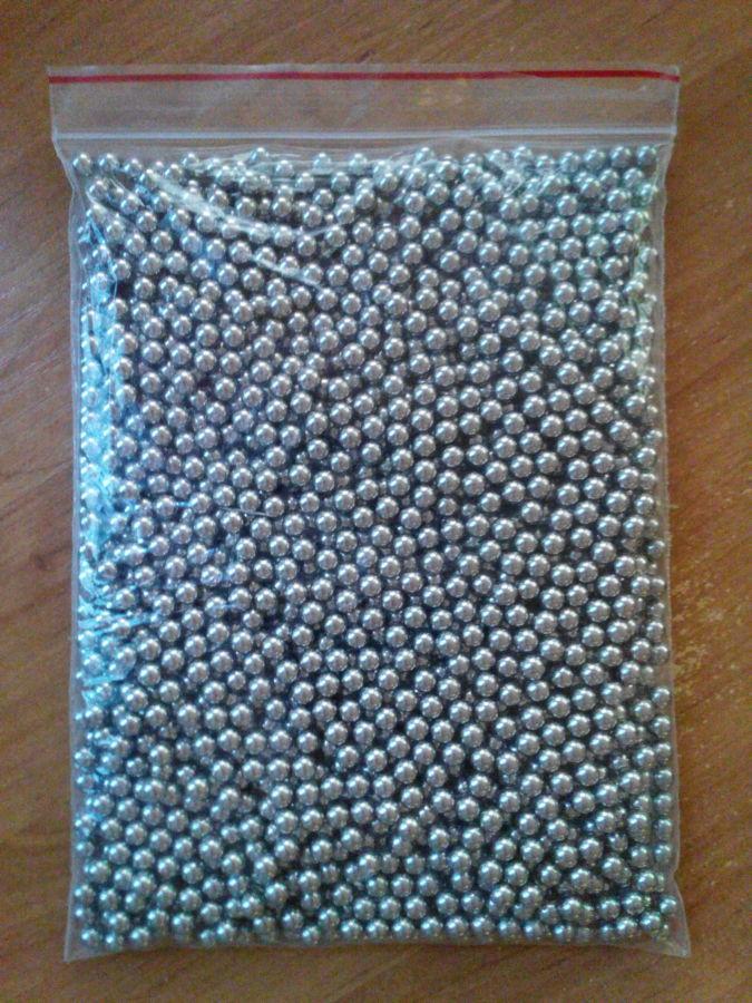 Шарики для рогатки из нержавейки диаметр 6 мм.