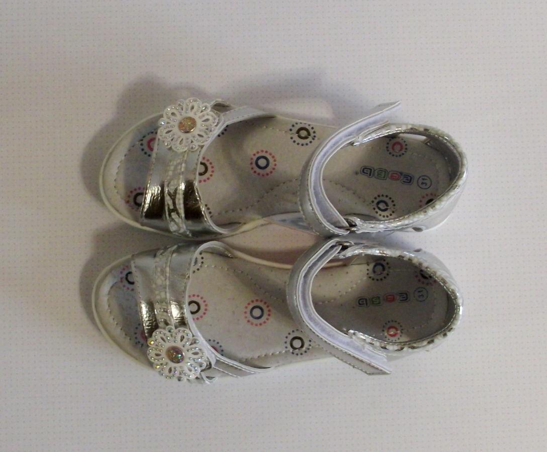 65dbfc8a3 Детские подростковые босоножки серебряные ромашка 31-36: 260 грн ...