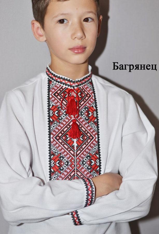 Вышитая сорочка для мальчика. Стильная украинская вышивка.