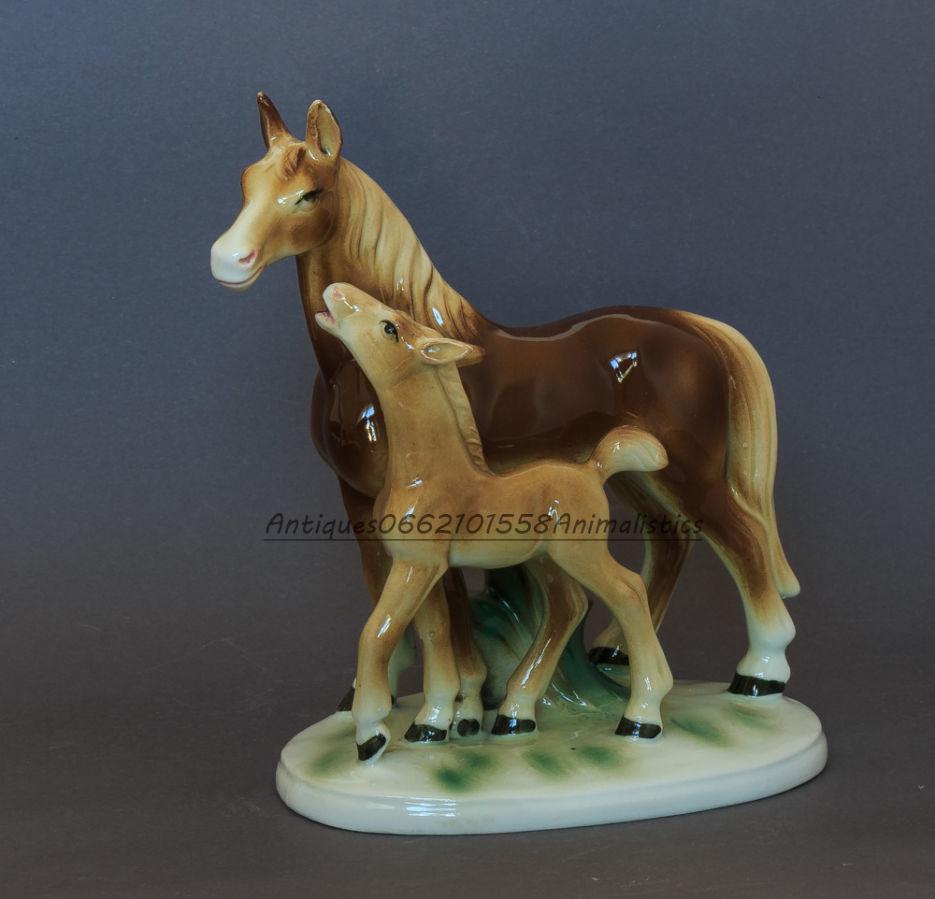 Фарфоровая статуэтка фарфор германия кони Heinz & Co