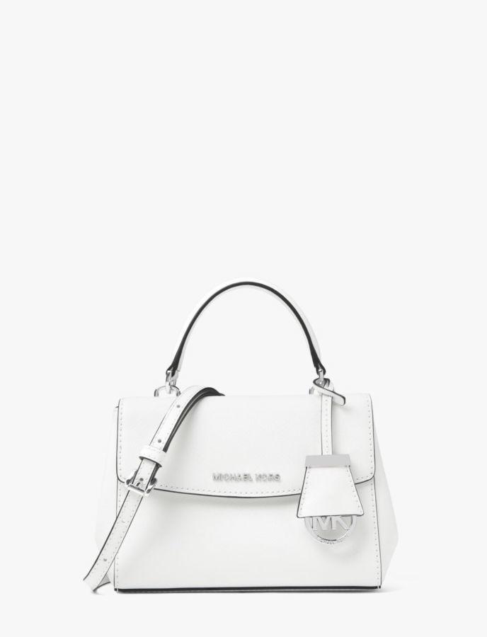 Michael Kors Ava small оригинал кожа сафьяновая белая сумка XS   4 ... 505cbfe968ae9