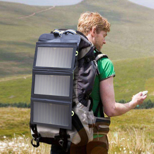 Складная солнечная панель Blitzwolf 20w для смартфонов и павербанков.#