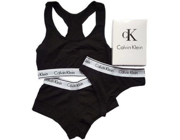 Женский набор нижнего белья Calvin Klein -3 в 1- топ+стринги+шорты ... e607f3942ea