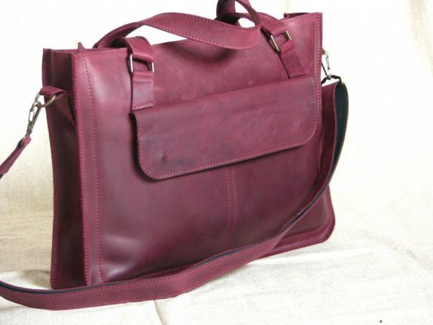 099d4cb3dcaf Кожаная женская сумка, сумка А4 для документов , сумка для ноутбука ...