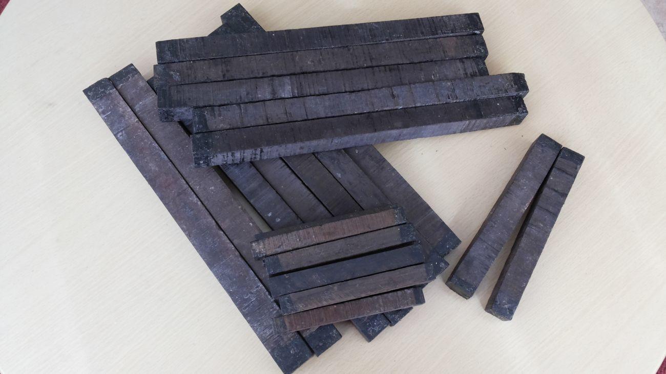 Бруски эбенового (черного) дерева