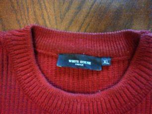 Брендовый мужской свитер white house толстый (высокий) трикотаж