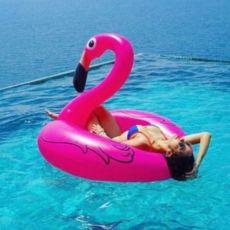 -50% АКЦИЯ Flamingo розовый фламинго надувной круг матрас плот