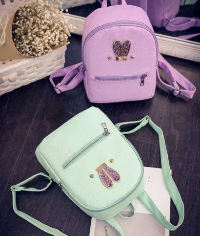 276aba720da1 Маленький женский рюкзачок мини рюкзак мятный розовый портфель детский