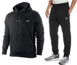 Мужской спортивный костюм Nike c кофтой кенгуру -черный, синий, серый,