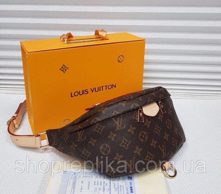 2ff32f6cb09b Женская Луи витон сумка бананка Louis Vuitton на пояс два цвета: 989 ...