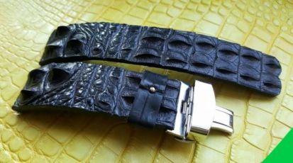 ... Ремешок для часов из кожи крокодила PANERAI ZENITH LACROIX HUBLOT IWC 6  ... 5d2d67483604d
