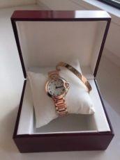 Часы!Женские наручные часы!Набор Cartier