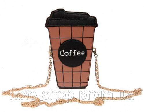 5c89cb7d383d Сумочка Кофе Кросс-боди Клатч в виде стакана кофе Сумка женская мини ...